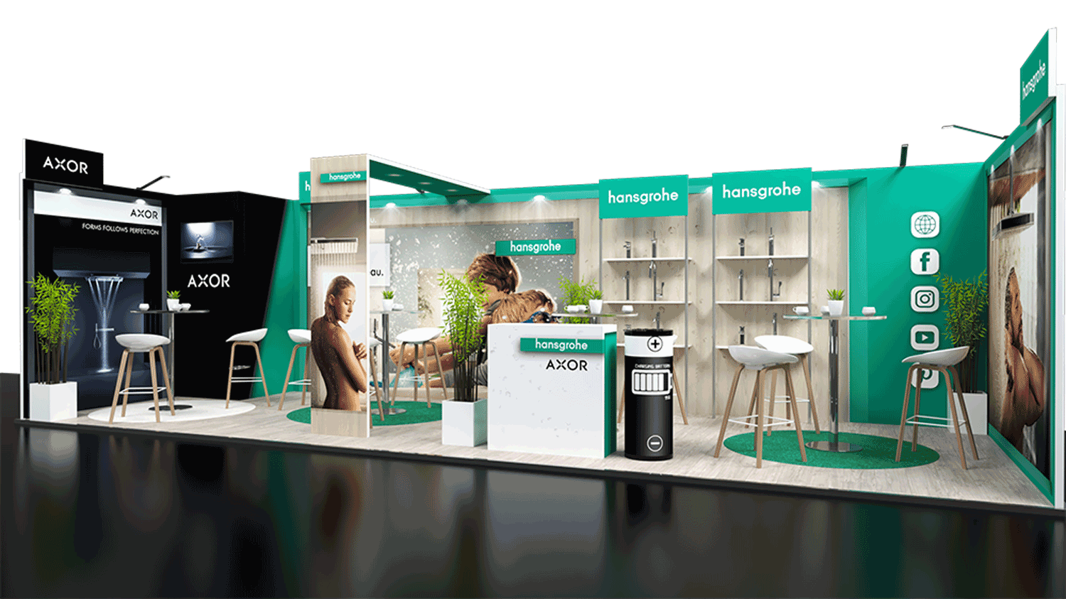 BK Event stand Hansgrohe