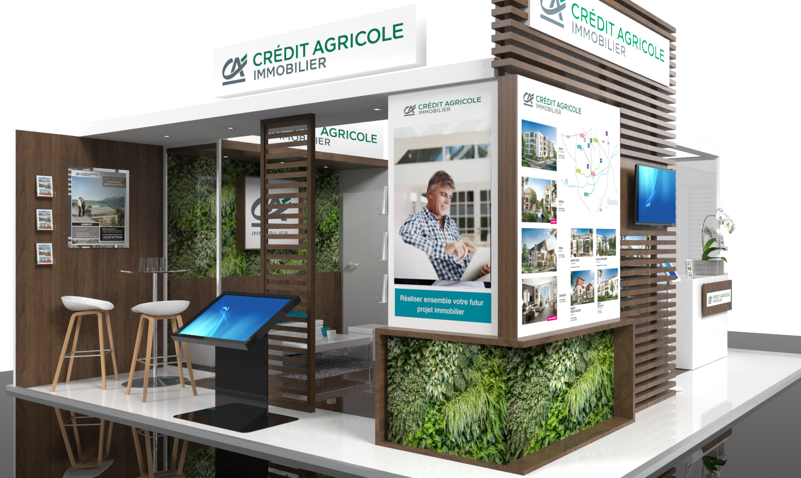 STAND CRÉDIT AGRICOLE IMMOBILIER