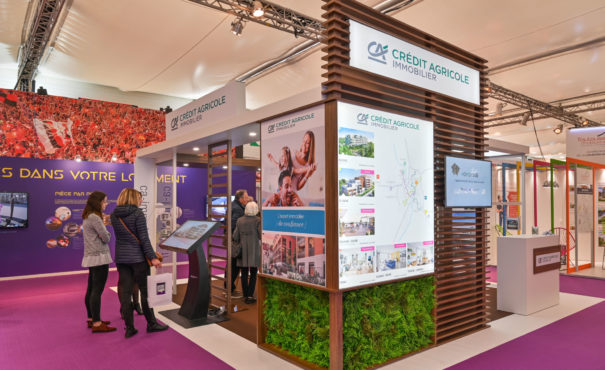 Stand Créa Expo Crédit Agricole Immobilier